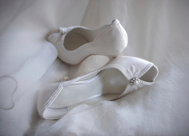 Shoes of a bride