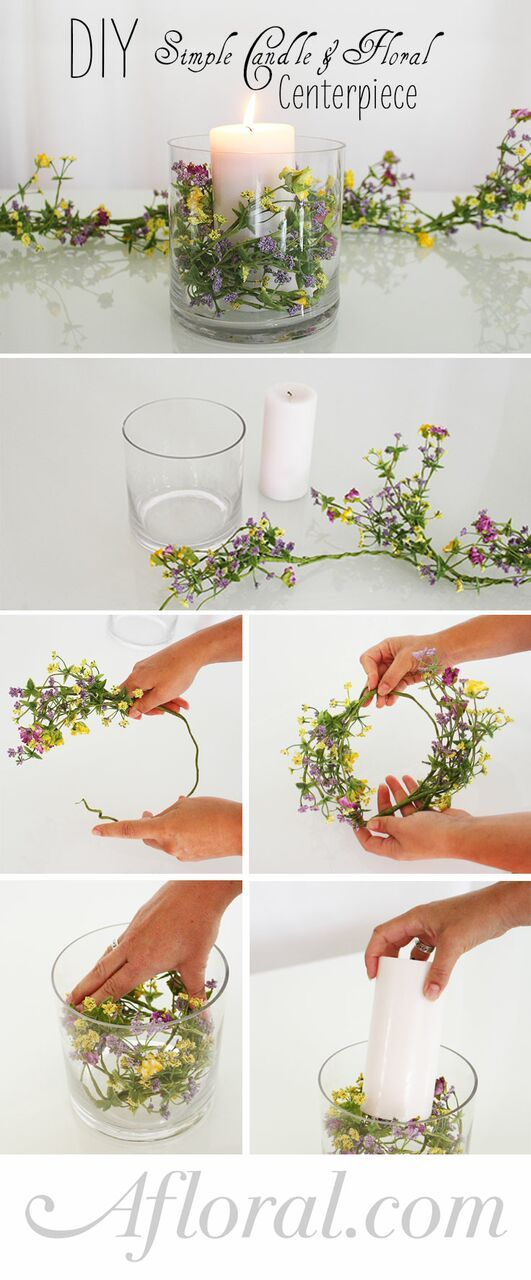 DIY-Simple-Floral-and-Candle-Centerpiece