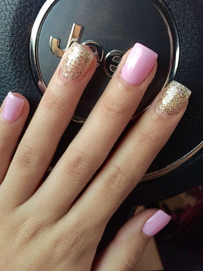 nude-glitter-wedding-nails-for-brides-61-46
