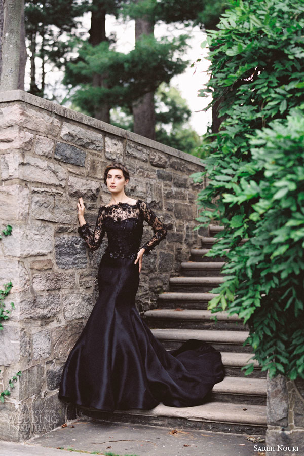 sareh-nouri-midnight-black-lace-wedding-dress-gazar-trumpet-gown-long-sleeves