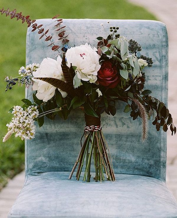 14-dark-red-roses-greenery-and-feathers