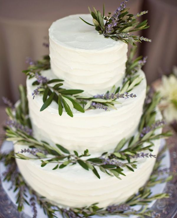 Lavender+Botanical+Wedding+cake