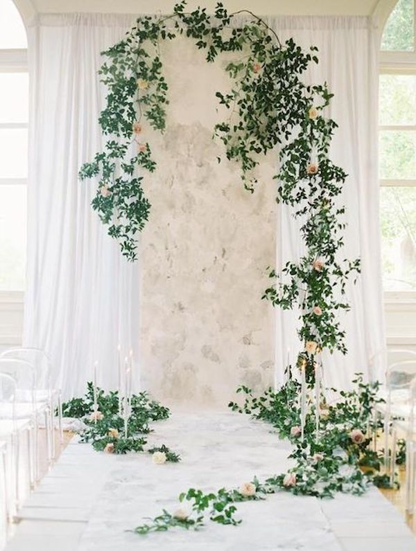 grey-marble-lots-of-foliage-and-candles-create-a-cool-backdrop
