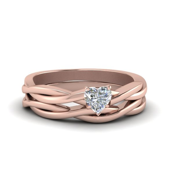 heart-shaped-Simple-Vine-Solitaire-Bridal-Ring-Set-in-18K-rose-gold-FD8252HT-NL-RG