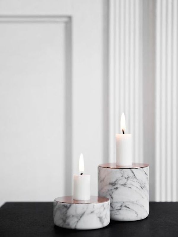 marble-and-copper-candle-holders-can-be-DIYed