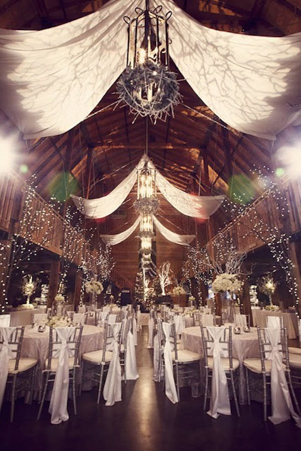 Wedding Lighting Ideas and Inspiration - Winter Wedding Up Lighting