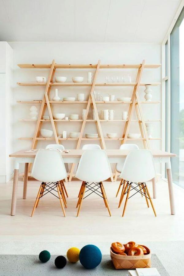 White-Scandinavian-dining-room-with-open-shelving
