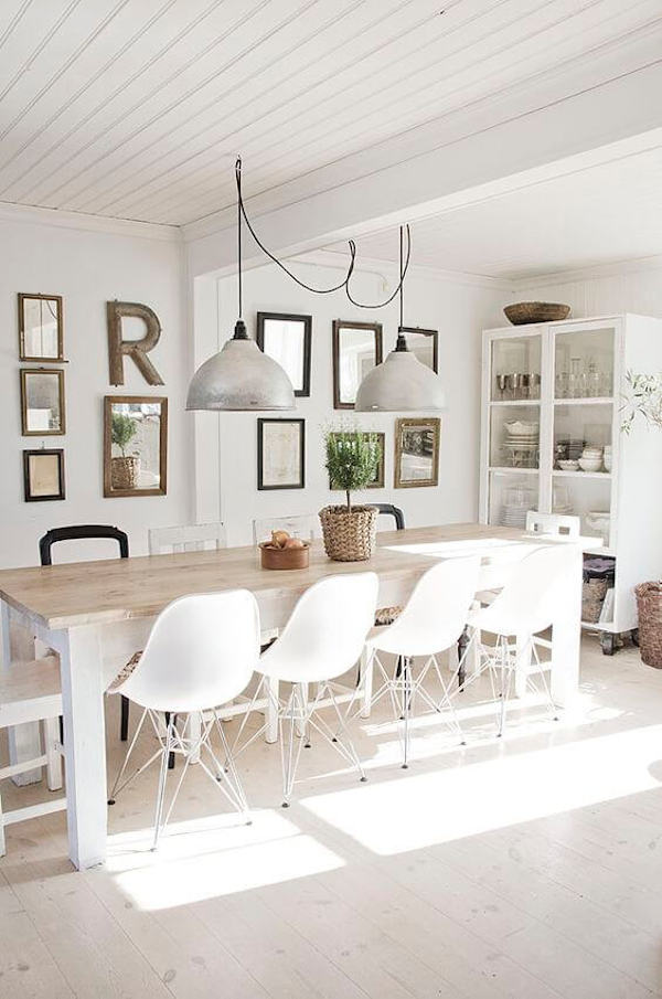White-Scandinavian-dining-room