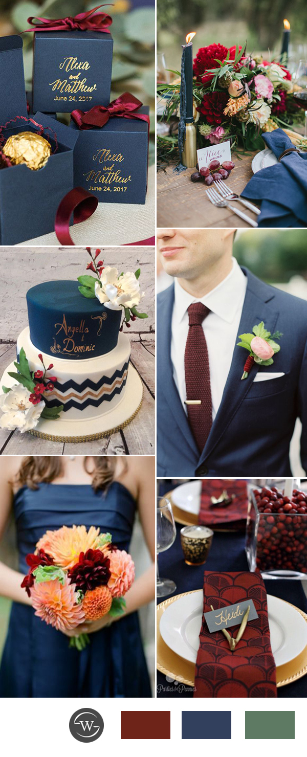 navy-blue-and-burgundy-wedding-color-ideas-for-2017-trends