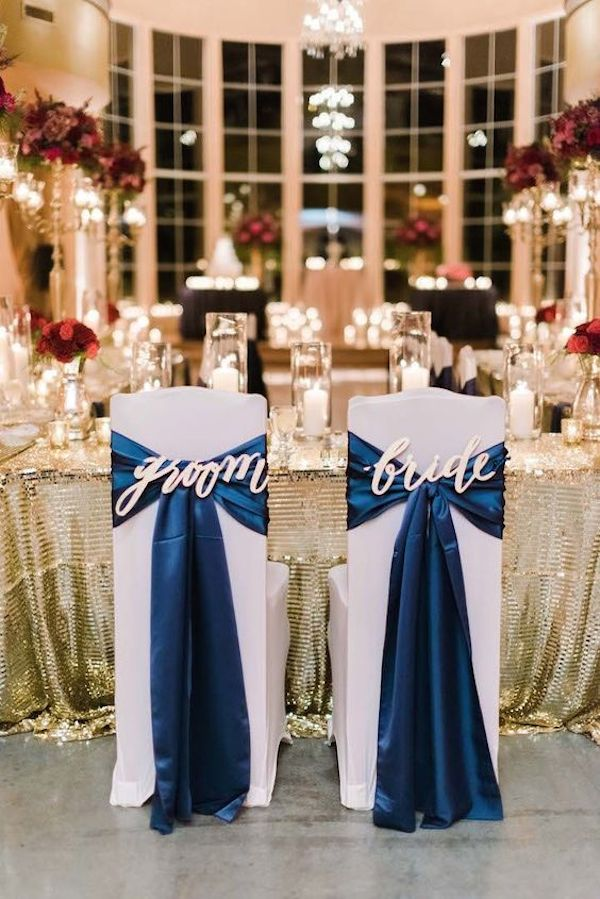 navy-blue-and-gold-bride-and-groom-wedding-chair-ideas